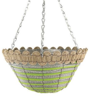 Green Twist Hanging Basket Round 12
